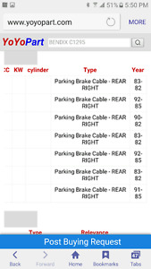 Certified Premium Parking Brake Cable