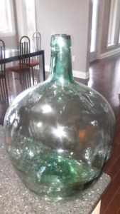 Vintage Viresa green glass carboy.