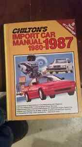 Chiltons import car manual 1980 to 1987