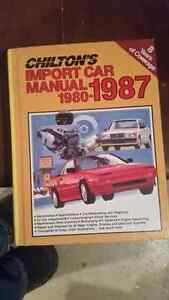 Chiltons import car manual 1980 to 1987 London Ontario image 1