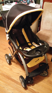 Stroller black and gold very nice condition