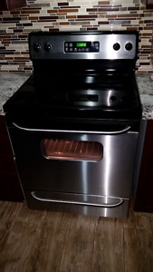 "GE 30"" stainless stell stove"