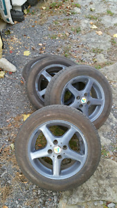 Toyota Echo mag wheels and tire may fit corola/civic/hyunday