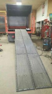 Forestry Truck Wood Chip 2 compartment & ramps