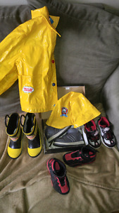 Boys spring shoes and coat