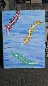 SALE - Abstract Feather Painting Peterborough Peterborough Area image 1