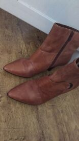 Barratts Real Leather Size 4 Boots