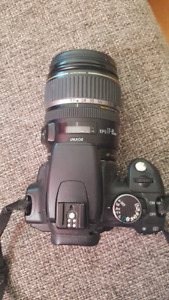 Canon Rebel XT camera with accessories