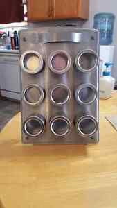 9 Jar Magnetic Spice rack