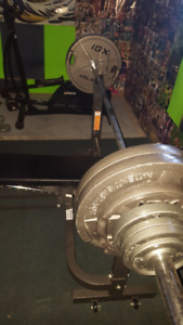 IGX olympic weights / Olympic bar bench + weights + Seat