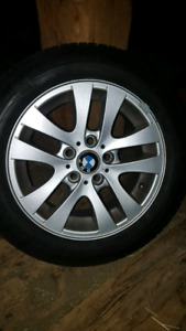 BMW winter tires and rim.