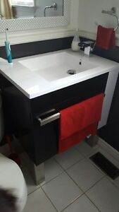 Beautiful black and white sink