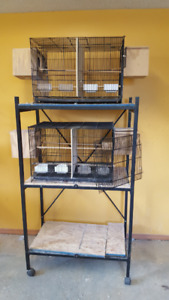 STACKED BIRD BREEDING CAGES