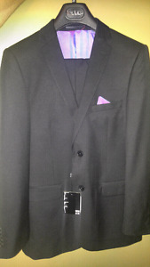 New with tags, black suit jacket & matching suit pants