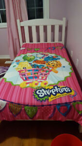 White clean single bed for Kids