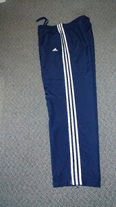 ADIDAS SPORTS PANTS WITH SIDE ZIPPERS ON BOTTOM OF LEG SIZE LARS Kingston Kingston Area image 1