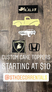Custom Cake Toppers Starting from $10