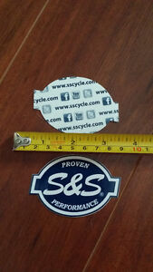 S. & S, S&S HD Harley Davidson SS sticker tool box cycle carb