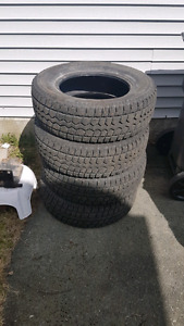 245/70R17 studded winter tires.
