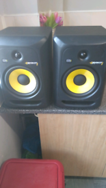 Rokit 8 studio monitors