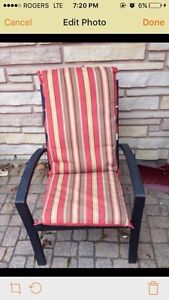 6 Patio furniture chairs with cushins $150 obo, must go today!