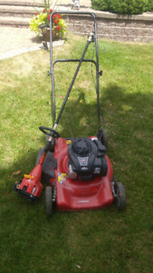 Briggs & Stratton gas mower with Homelite gas trimmer
