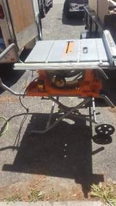 12 inch mitre saw with MSUV and 10 inch table saw and compressor
