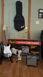 Squire Fender Stratocaster Electric Guitar - Complete