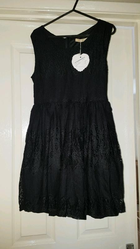 970068c3ec8 Brand new black lace skater dress boohoo size 10-14 | in Darlington, County  Durham | Gumtree