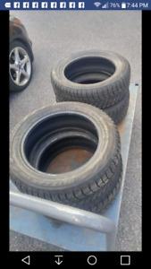 195/60R16 pneus d'hiver usagés