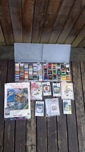 Cross Stitch kits and lots of embroidery thread