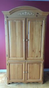 Real wood tv armoire