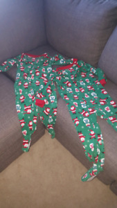 Carters christmas pjs - size 3t and 4t