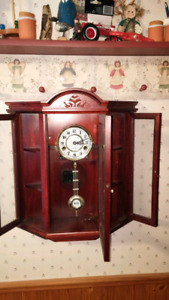 CABINET STYLE 31 DAY 2-KEYWIND WALL CLOCK 50.00