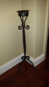 Wrought Iron candle Stand.