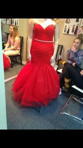 Great Condition Red Mermaid Style Prom Dress