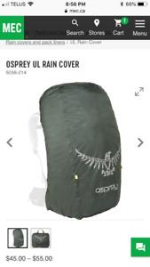 Osprey ultralight pack cover brand new