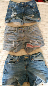 Jeans and Jean shorts size 00
