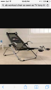 Excellent condition Tony Little Ab chair