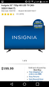 32 inch insigma Tv and a Tv stand