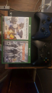Xbox One 500gb w/ 2 controllers and 2 games