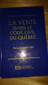 La vente dans le code civil au québec