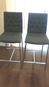 Counter Height High Back dinning chairs