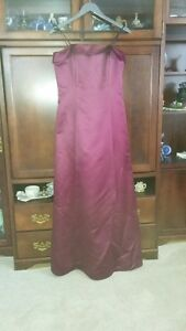 Strapless Burgundy Wine Dress - Size 12