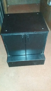 Custom Reinforced Black Wheeled Cabinet (For Amps + Other Stuff)