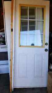 2 Doors with Glad Windows 2 Screen Doors
