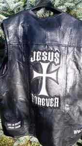 Leather 3X, Mens Christian Vest! Christmas Gift, Biker Peterborough Peterborough Area image 3