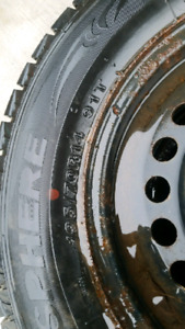 4 14 inch Rims & Tires Winter Studed P195/70R14
