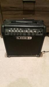 Line 6 Spyder 15 watt amp with pedalboard