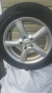 WINTER TIRES WITH ALLOYS